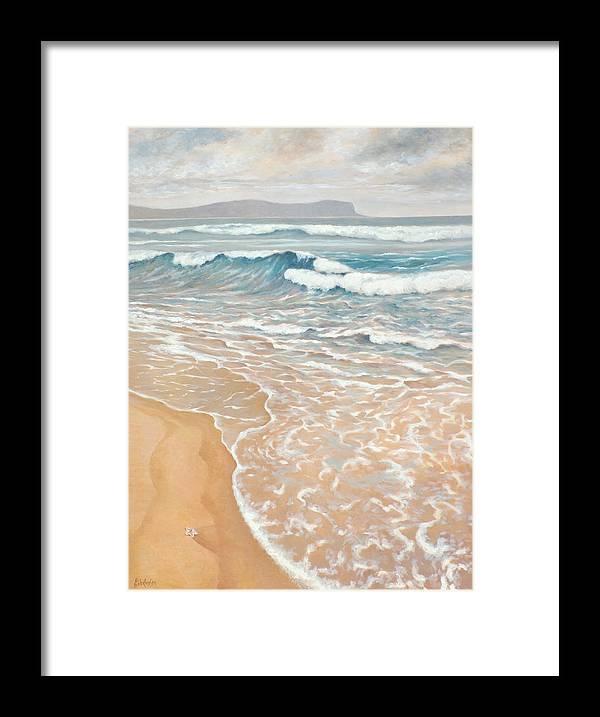 Ekaterina Mortensen Framed Print featuring the painting Waveline by Ekaterina Mortensen