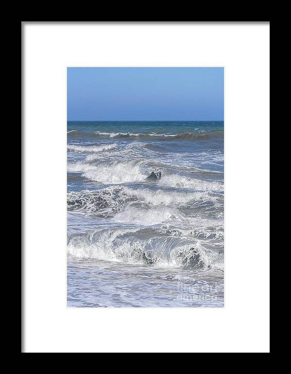 Sea Framed Print featuring the photograph Waves 1 by Carol Herbert