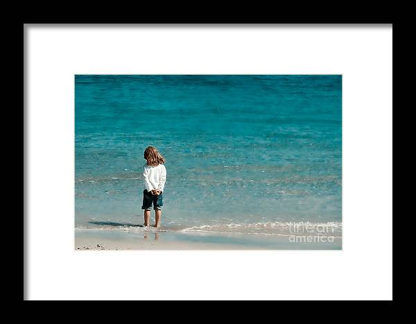 Girl Framed Print featuring the photograph Waves by Gabriela Insuratelu