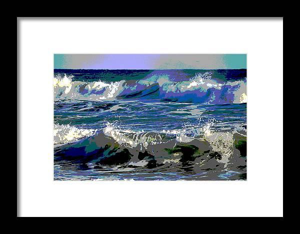 Ocean Framed Print featuring the photograph Waves Of Delight by Dianne Cowen