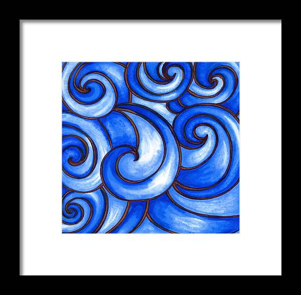 Water Framed Print featuring the painting Waves Of Mercy by Vonda Drees