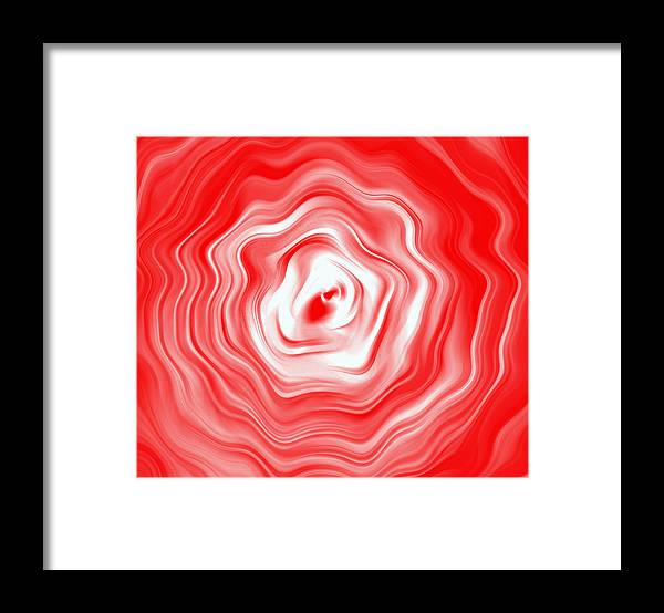 Abstract Framed Print featuring the digital art Wavey Flower by Joshua Sunday