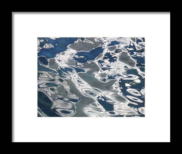 Water Framed Print featuring the photograph wavy Water by Melissa Parks