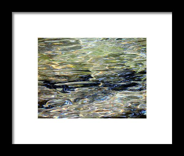 Water Framed Print featuring the photograph Wawona Ripples 3 by Eric Forster