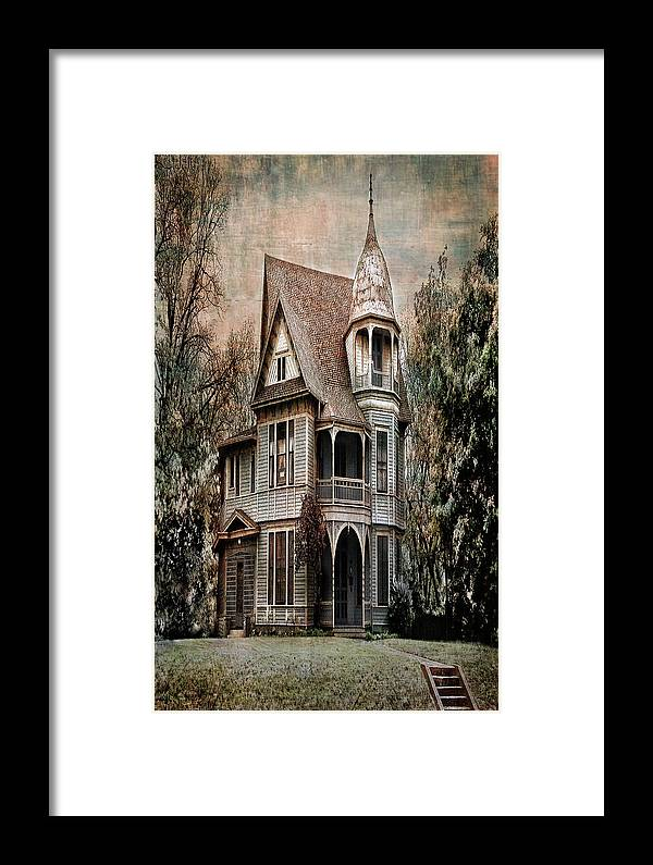 Architecture Framed Print featuring the photograph Waxahachie Home by Sherry Adkins