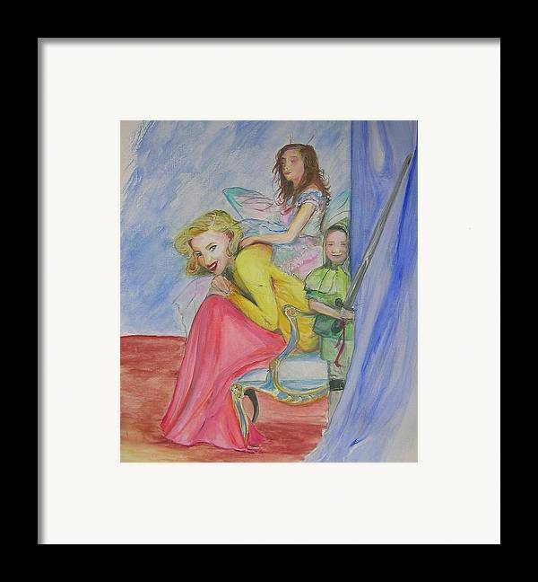 Framed Print featuring the painting Way Past Bedtime 2 by Lizzy Forrester