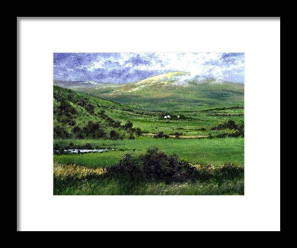 Landcape Framed Print featuring the painting Way to Ardara Ireland by Jim Gola