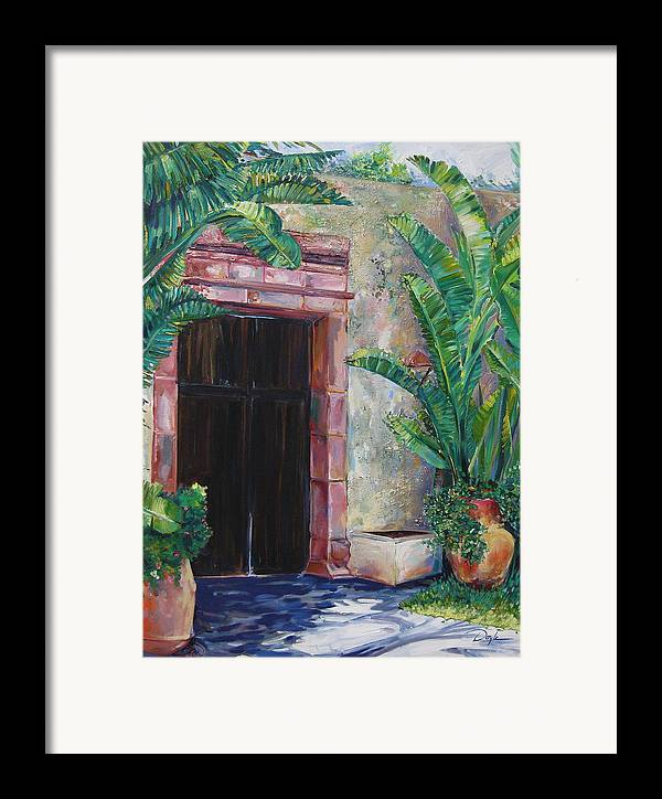 Building Framed Print featuring the painting Way To The Beach by Karen Doyle