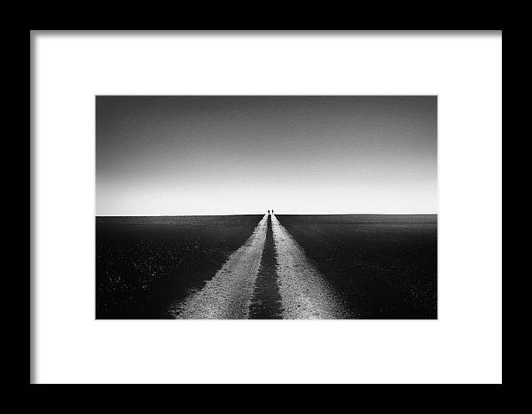 Way Framed Print featuring the photograph Way To The Horizon - Fine Art Street Photography by Frank Andree
