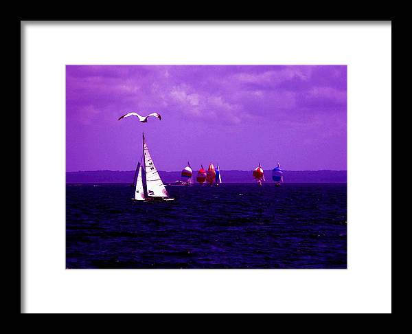 Sailboat Framed Print featuring the photograph Way Up In The Clouds by Kendall Eutemey