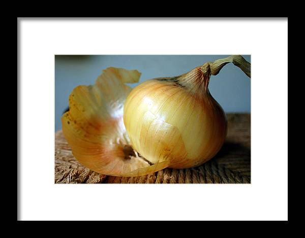 Food Framed Print featuring the photograph We All Have Layers by Heather S Huston
