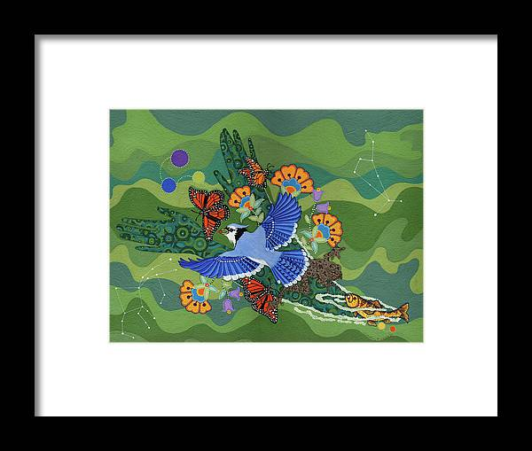 Water Framed Print featuring the painting We Are One by Chholing Taha