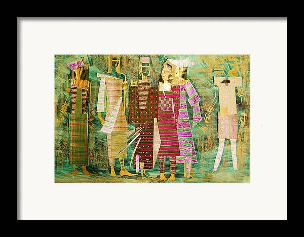 Woman Framed Print featuring the mixed media We Are Still Growing by Kseniya Nelasova