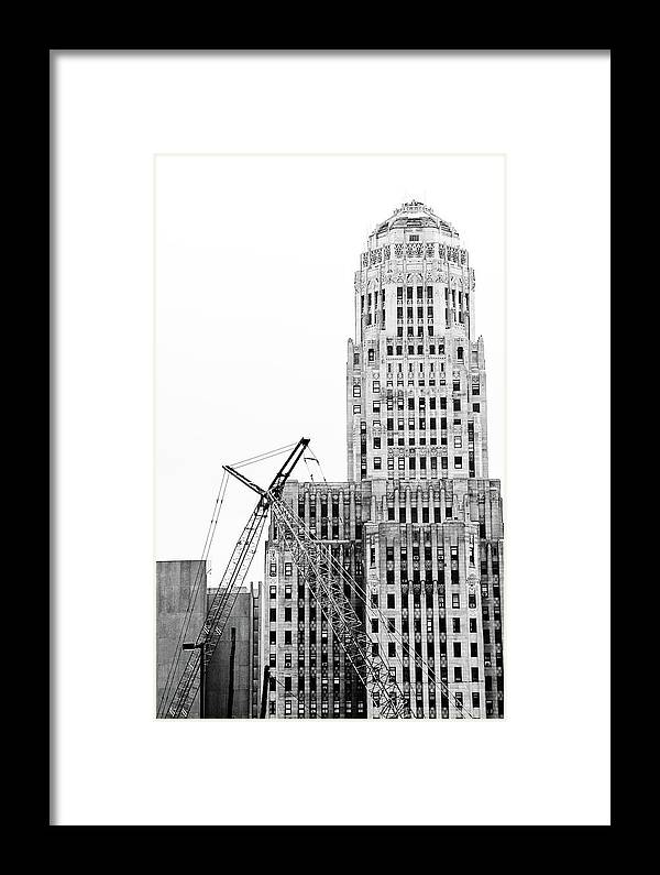 Buffalo Framed Print featuring the photograph We Built This City by Marcus L Wise