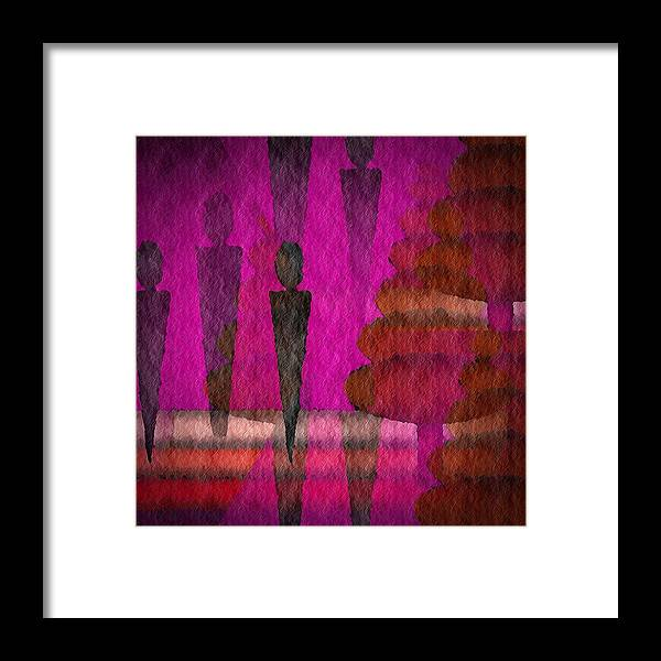 Man Framed Print featuring the digital art We Stand In The Shadows by Terry Mulligan