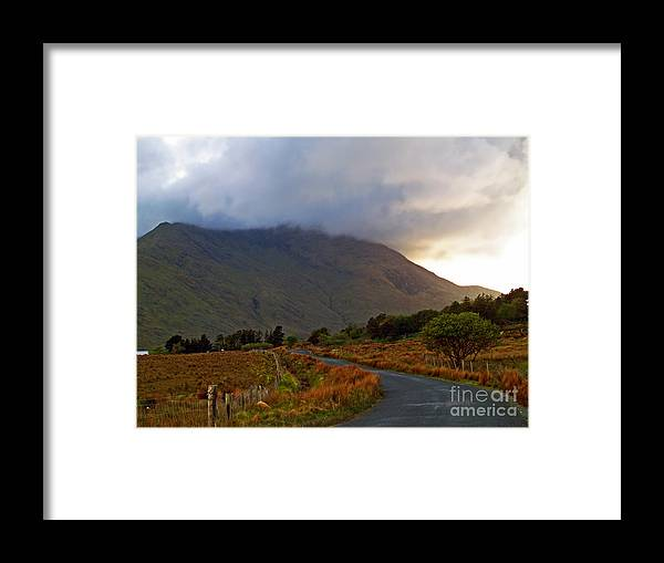 Fine Art Photography Framed Print featuring the photograph We Took The Road Less Traveled by Patricia Griffin Brett