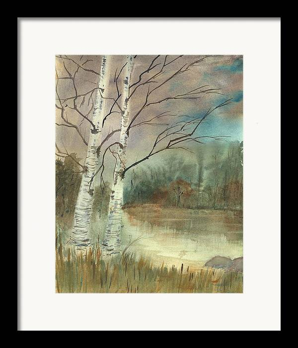 Landscape Framed Print featuring the print We Two by George Markiewicz