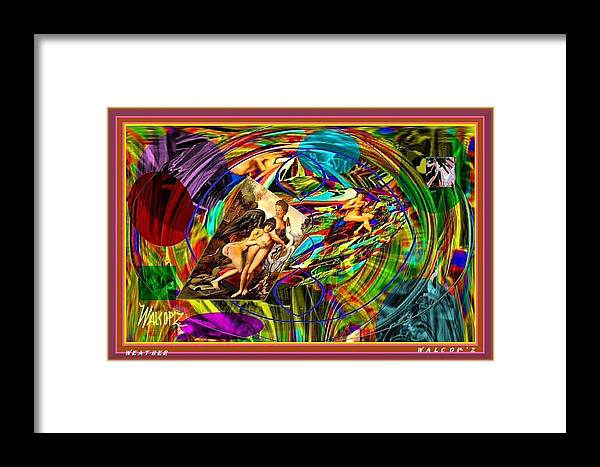 Framed Print featuring the digital art Weather by Walcopz Valencia
