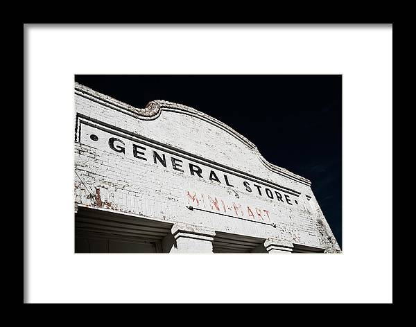 Landscape Framed Print featuring the photograph Weatherbeaten Storefront by Werner Rolli