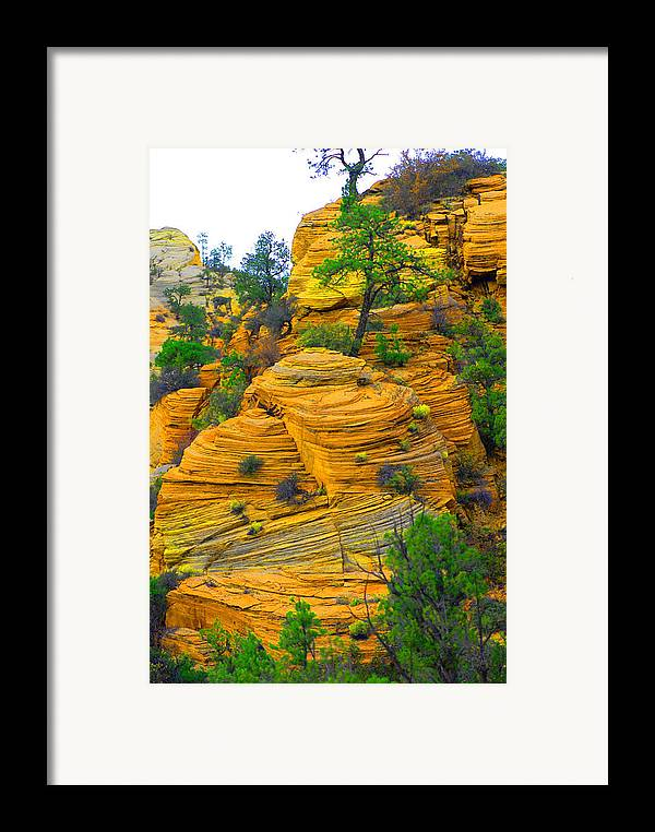 Utah Framed Print featuring the photograph Weathered Rock by Dennis Hammer