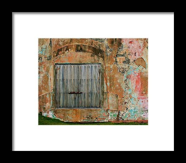 Fort Framed Print featuring the photograph Weathered Wall by Perry Webster