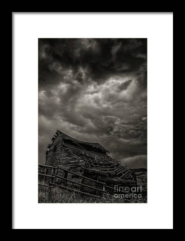 Barn Framed Print featuring the photograph Weathering Another Storm by David Hillier