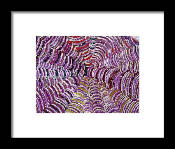 Framed Print featuring the painting Web by Biagio Civale