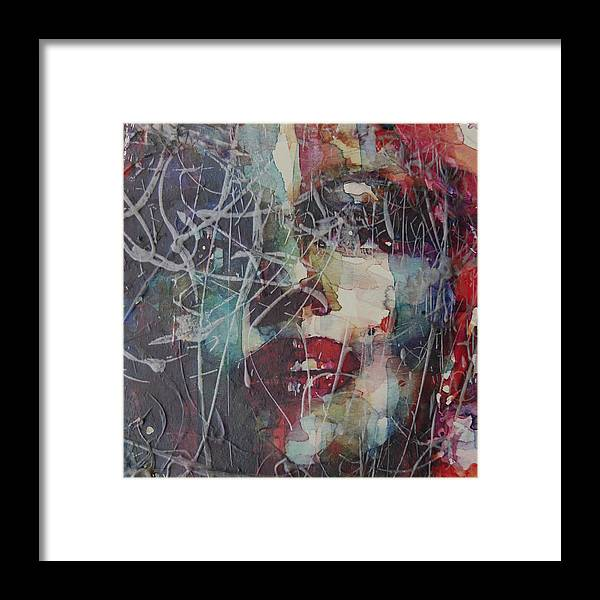 Marilyn Monroe Framed Print featuring the painting Web Of Deceit by Paul Lovering