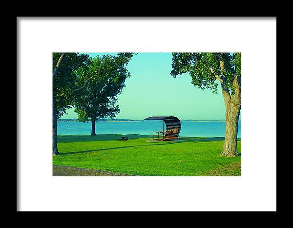 Kansas Framed Print featuring the photograph Webster State Park by Louise Browne