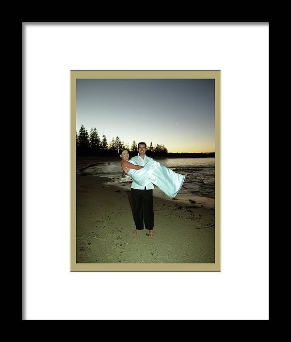 Groom Framed Print featuring the photograph Wedding 3 by Elisabeth Dubois
