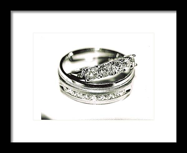 Jewelry Framed Print featuring the photograph Wedding Bands by Jimmy Ostgard