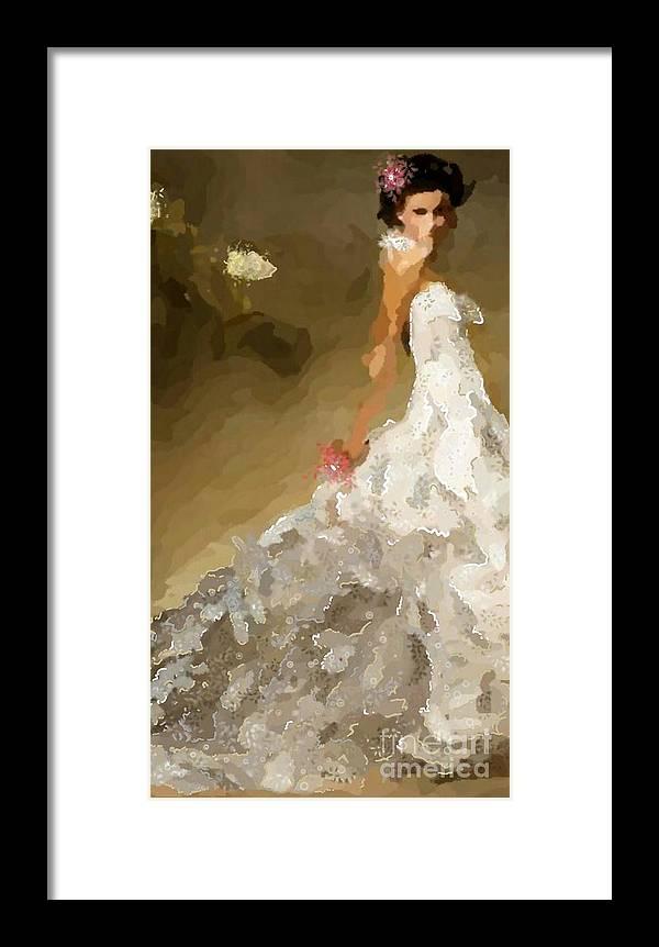 Uzart Framed Print featuring the digital art Wedding Day #0072 by Urszula Zogman