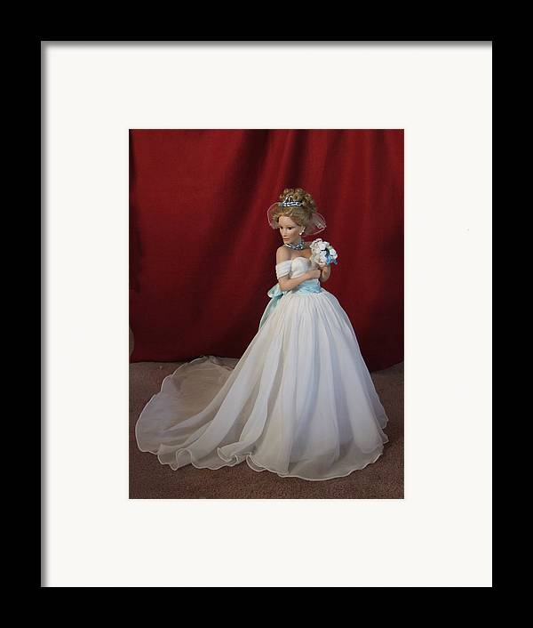 Fantasy Framed Print featuring the photograph Wedding Gown by Chuck Shafer