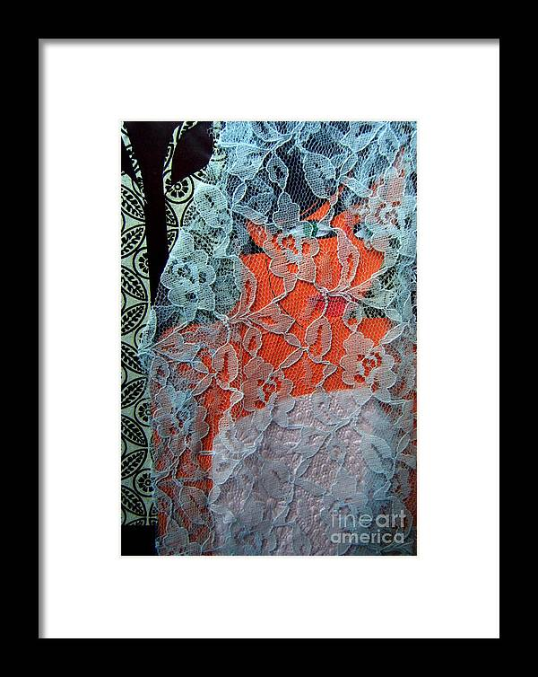 Portrait Framed Print featuring the mixed media Wedding Mask by Debra Bretton Robinson