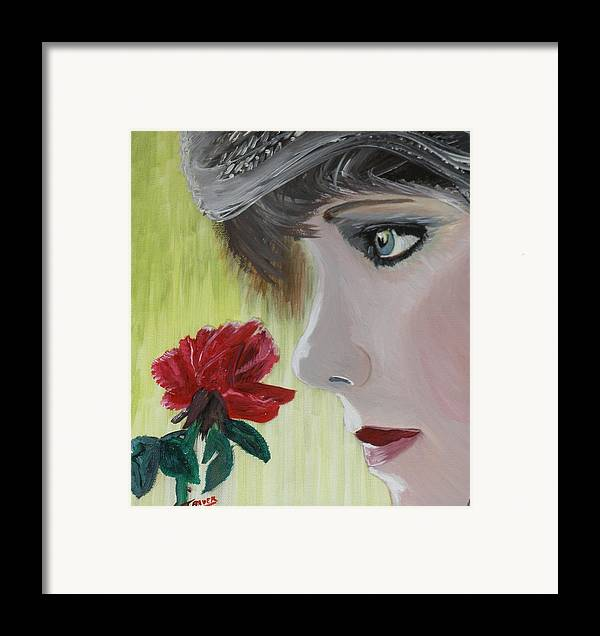 Romance Framed Print featuring the painting Wedding Rose by J Bauer