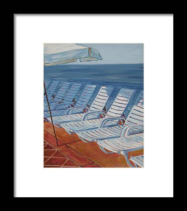 Ocean Framed Print featuring the painting Wednesday Afternoon by Karen Doyle