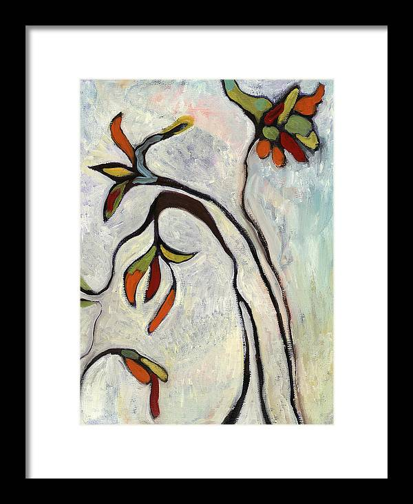 Painting Framed Print featuring the painting Weeds2 by Michelle Spiziri
