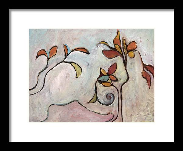 Abstract Framed Print featuring the painting Weeds3 by Michelle Spiziri