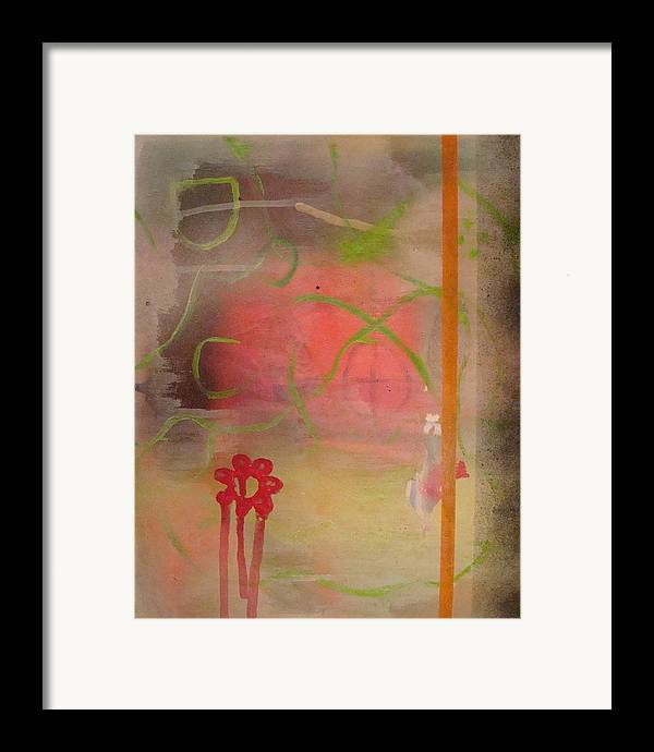 Modern Abstract Framed Print featuring the painting Weeping Flower by W Todd Durrance