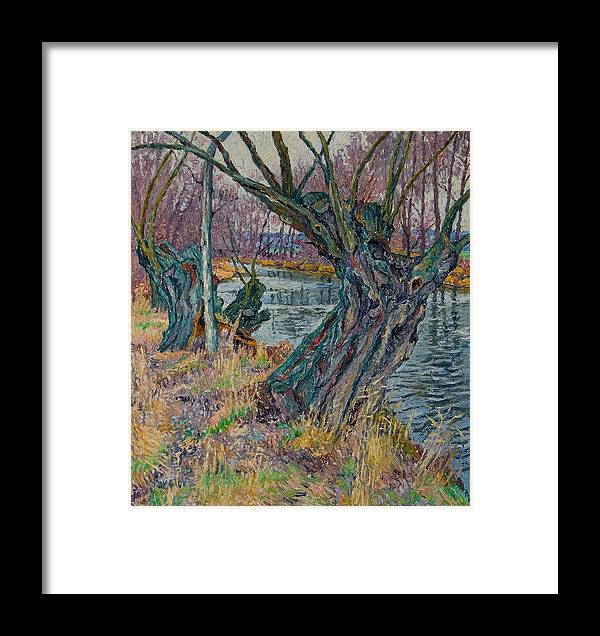 Willow Framed Print featuring the painting Weeping Willows by Vitali Komarov