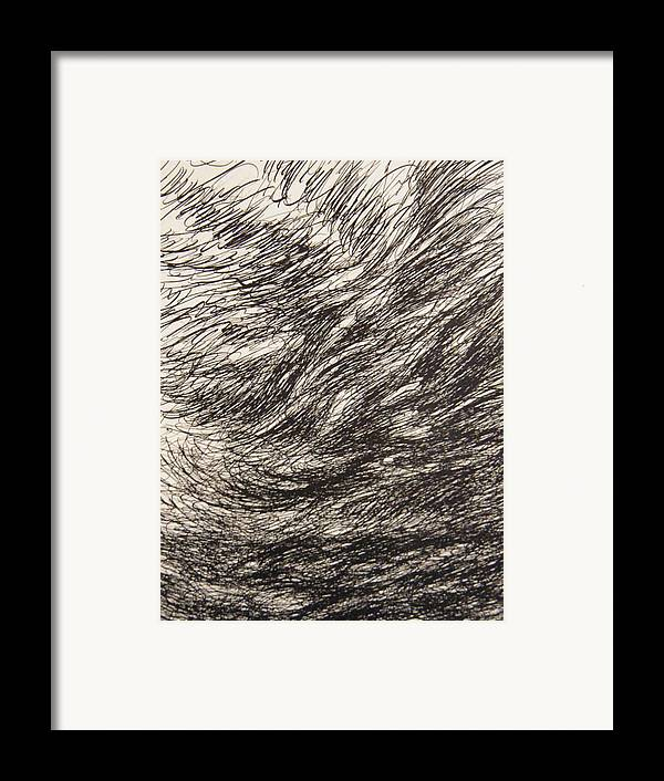 Landscape Framed Print featuring the drawing Weighty by Uwe Schein