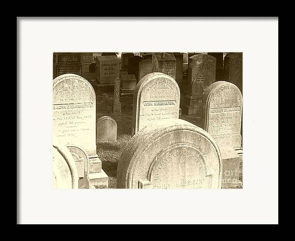 Cemetery Framed Print featuring the photograph Welcome by Debbi Granruth