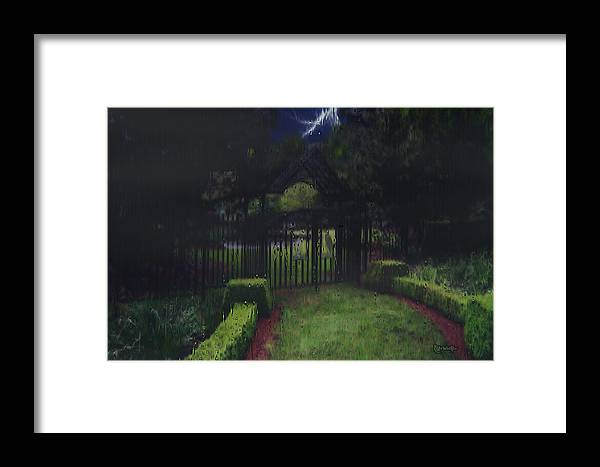 Landscape Framed Print featuring the painting Welcome To Dudleytown by RC DeWinter