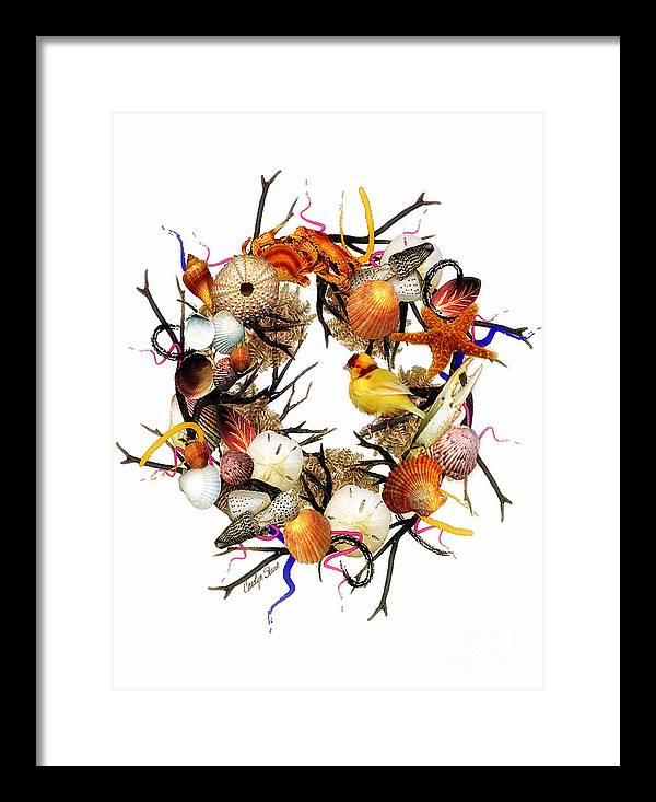 Shells Framed Print featuring the painting Welcome To My Nest by Carolyn Staut