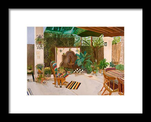 Landscape Framed Print featuring the painting Welcome To Paradise by Arvin Nealy