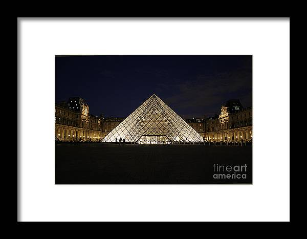 Louvre Museum Framed Print featuring the photograph Welcome To The Louvre by Joshua Francia
