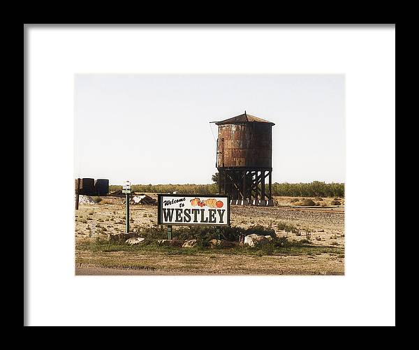 Landscape Framed Print featuring the photograph Welcome To Westley by Karen W Meyer