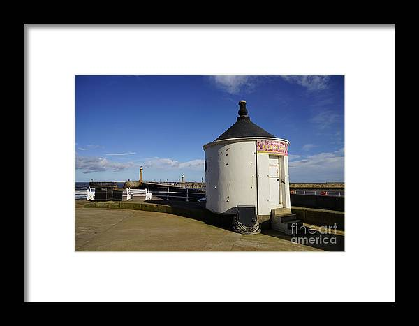 Whitby Yorkshire Framed Print featuring the photograph Welcome To Whitby by Smart Aviation