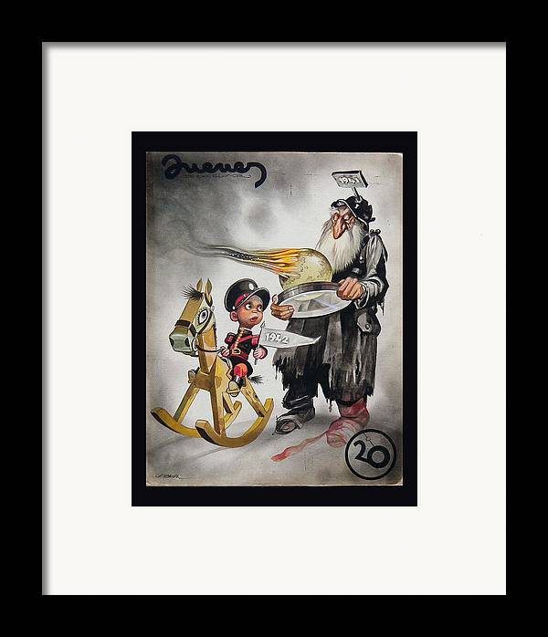 1941 Framed Print featuring the painting Welcoming 1942 by Ernesto Garcia Cabral