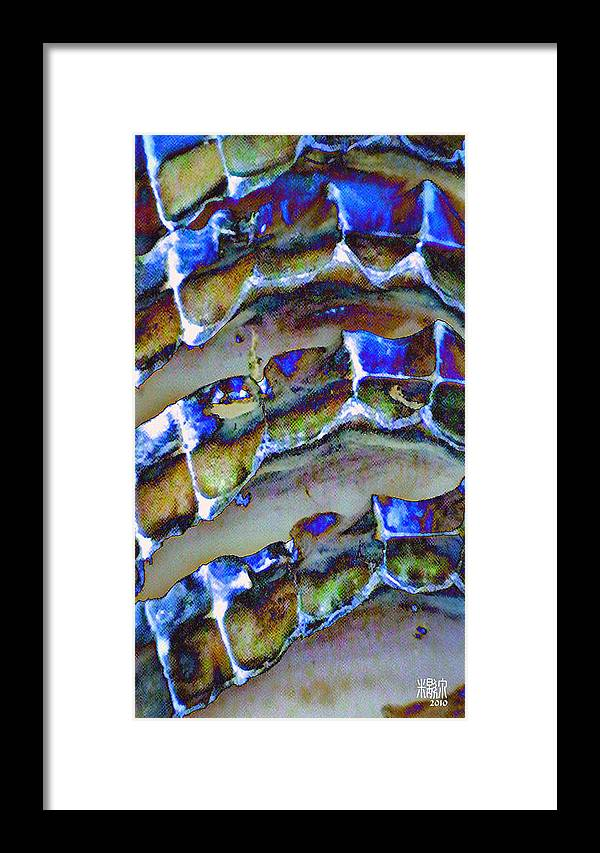Microscopic Framed Print featuring the digital art Welk Shell by Michele Caporaso